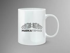 Melek Marka Logo Mug Tasarımı
