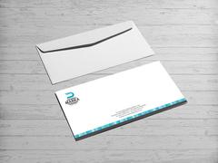 D Harfli Logo Zarf Tasarımı