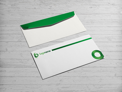 Yeşil Logo Zarf Tasarımı