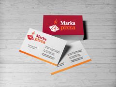 Pizza Logo Kartvizit Tasarımı