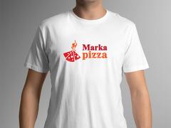 Pizza Logo T-shirt Tasarımı