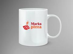 Pizza Logo Mug Tasarımı