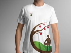 Çiftçi Logo T-shirt Tasarımı