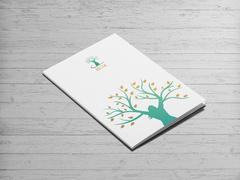 Kadın ve ağaç logo Dosya Tasarımı