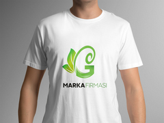 G Harfli Marka Logo T-shirt Tasarımı