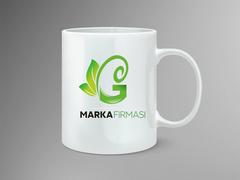 G Harfli Marka Logo Mug Tasarımı