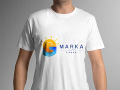 Güneş, Kuşlar, G Harf Marka Logo T-shirt Tasarımı