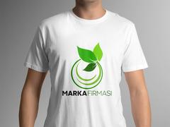 Yaprak Marka Logo T-shirt Tasarımı