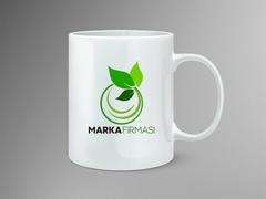 Yaprak Marka Logo Mug Tasarımı