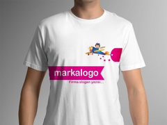 Uçak Çocuk T-shirt Tasarımı