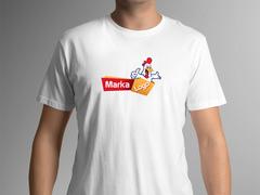 Tavuk Maskot T-shirt Tasarımı
