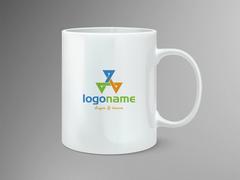 Üçgenli Logo Mug Tasarımı