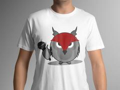Baykuş Logo/Maskot T-shirt Tasarımı