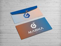 G Harfli logo Zarf Tasarımı