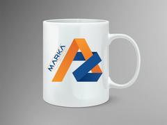 A ve Z Logo Mug Tasarımı