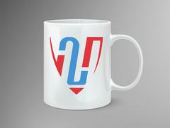 H Harfi Logo Mug Tasarımı