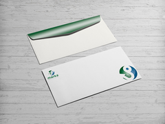 U ve P Logo Zarf Tasarımı