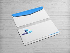 Dinamik Spor Logo Zarf Tasarımı