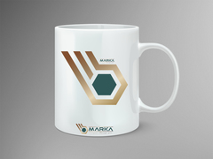 B marka logo Mug Tasarımı