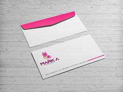 Kelebek Logo Zarf Tasarımı
