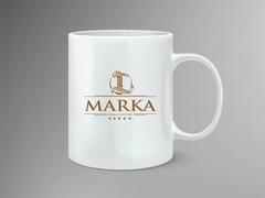 L marka logo Mug Tasarımı