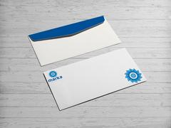 Çiçek Logo Zarf Tasarımı