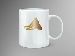 Atlı logo Mug Tasarımı