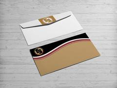 Yuvarlak amblemli logo Zarf Tasarımı