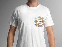 Yuvarlak amblemli logo T-shirt Tasarımı