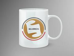 Yuvarlak amblemli logo Mug Tasarımı