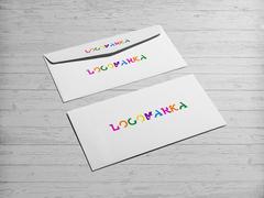 Renkli Tipografik Logo Zarf Tasarımı