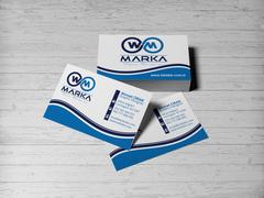 W M logo Kartvizit Tasarımı