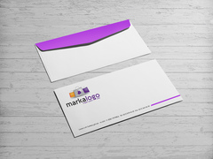 Alışveriş Logo Zarf Tasarımı