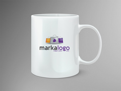 Alışveriş Logo Mug Tasarımı