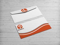 T ve P Logo Zarf Tasarımı