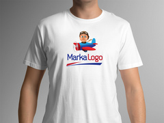 Uçak Logo T-shirt Tasarımı