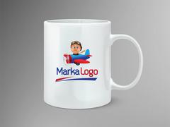 Uçak Logo Mug Tasarımı