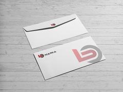 B ve O Harfi Logo Zarf Tasarımı