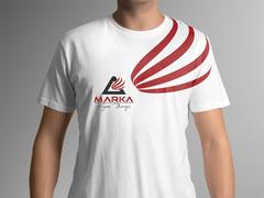 A Harfi Logo T-shirt Tasarımı