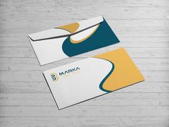 B ve M Logo Zarf Tasarımı