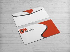 D ve M Logo Zarf Tasarımı