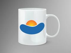 Güneş Logo Mug Tasarımı