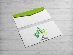 Ağaç Logo Zarf Tasarımı