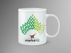 Ağaç Logo Mug Tasarımı