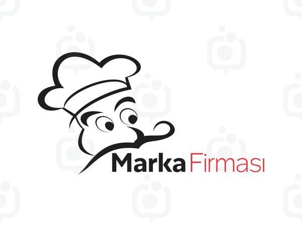 Aşçı Maskotlu logo