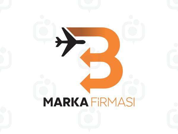 B Harfli Oklu Logo logo