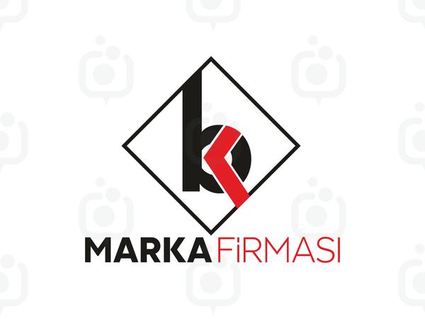 B ve K Harfi Logo logo