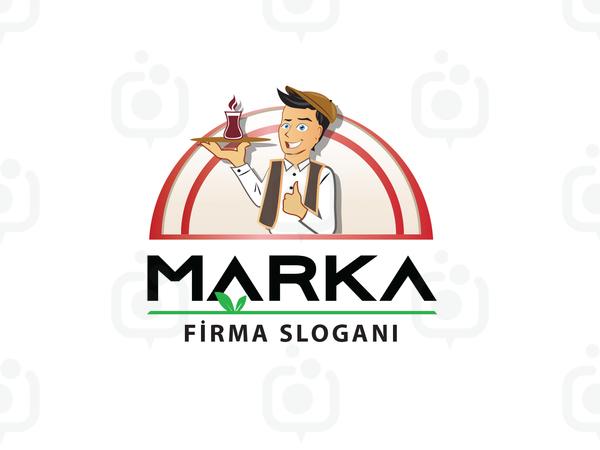 Çaycı Maskot logo