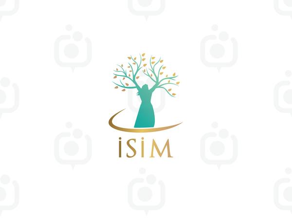Kadın ve ağaç logo logo