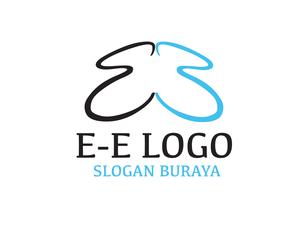 """""""E-E"""" Kelebek Temalı Logo Çalışması logo"""